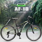"26"" Cheap Mountain Sports Bicycle With Double Suspension 21 Speeds"