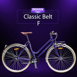 "28"" Fancy Trendy Design Retro City Bicycle Retro Style With Belt Drive System"