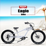 "26""FAT Tire Bikes TOURNEY 7-Speed Fashionable Bicycle Chopper"