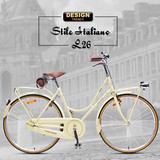 "26"" Original Italian Retro City Bikes"