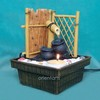 Bamboo Fence Zen Garden Water Fountain