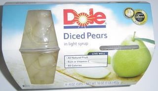 Cup Fruit Pear