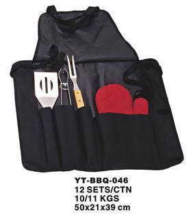 4 Pcs BBQ Tool Set (YT-BBQ-046)