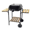 Trolley Square Charcoal BBQ Grill With Two side Tables