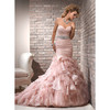 Organza strapless wedding dress