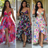 Plus Size Chiffon Bohemian High Low Dress 263
