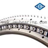 Double-row crossed roller slewing bearing for Tubular handling machinery