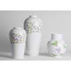 Bird decal ceramic home decor,unique modern vase set