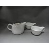 Porcelain Tea Set W/Bamboo Tray