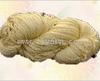 Metallic combed cotton yarn