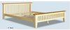 wooden bed,