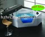 corner bathtub with massage , glass bathtub