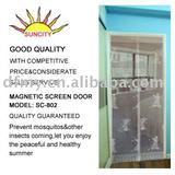 cheap DIY magnetic screen door curtain SC-802