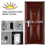 Exterior heat transfer print Steel door SC-S076(ISO9001,CE)