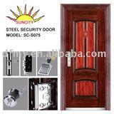 Exterior security steel door SC-S075(ISO9001,CE)
