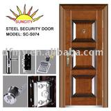 Safety security steel door SC-S074(ISO9001,CE)