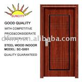 interior steel wood door SC-G001