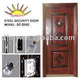 Single leaf Steel door SC-S082(ISO9001,CE)