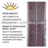 Flower design magnetic screen door SC-807