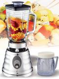 1.25L glass jar kitchen blender with chrome housing