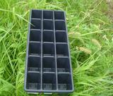 plastic seed tray,propagation tray,cell tray,seed container,plant container,single cell nursery tray(18 cells)
