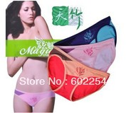 New Wholesale!!! High quality and super soft comfortable 100% bamboo fiber women panties