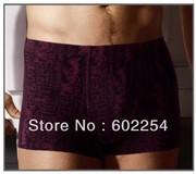 Hot wholesales!!! top quality Super soft and breathable 100% bamboo fiber Fashion underwear men boxer, mens briefs underwear