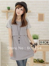 Hot wholesale Free shipping short sleeve Cotton soft and comfortable maternity tops