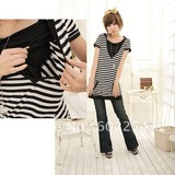 Hot wholesale Free shipping short sleeve soft and comfortable maternity skirt maternity tops nursing tops