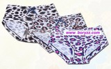 New Wholesale!!! Free shipping comfortable and breathable 100% bamboo fiber fashion leopard underwear