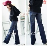 Hot wholesale!!! Free shipping high quality small boot cut loose style adjutable button maternity jeans