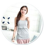 Hot wholesale!!! Free shipping bra inserted soft and comfortable maternity camisole