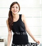 Hot wholesale!!! Free shipping bra inserted soft and comfortable maternity camis