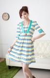 Hot wholesale Free shipping Fashion high elastic soft and comfortable pregnant dress, nursing dress, maternity dress