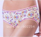 Hot Wholesale!!! Free shipping comfortable and breathable bamboo fiber fashion lady's underwear