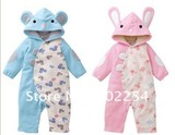Hot wholesale!!! Free shipping cute design velour baby bodysuits