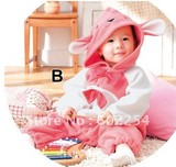 Hot wholesale!!! Free shipping cute rabbit design velour baby girl's  suits