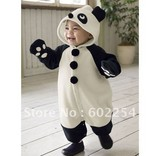 Hot wholesale!!! Free shipping cute panda design velour kid's rompers
