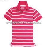 fashionable design man's top quality 100%cotton striped short sleeve polo shirt