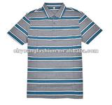 men's pure cotton with stripes polo shirt.classic style and fashionable