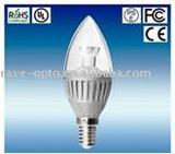 housing 3w led candle light e14 base with CE RoHS 40000hours lifetime