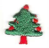 christmas tree embroidery badge