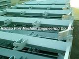 Mine material handling conveyor steel idler support