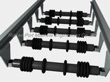 Port conveyor rubber disc return roller