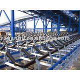 Mine belt conveyor roller and frame