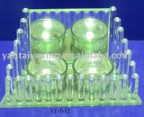 Home decor Clear glass tealight candle holder shaped by glass column