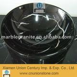 black marble sink, granite basin