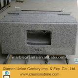 Grey granite bathroom vanity top