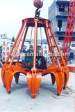 Electric eight-valve grab bucket