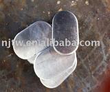 disc/oval shaped of aluminum circular pieces